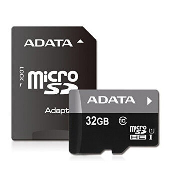 Harga Adata 32GB Calss10 Micro SD card with Adaptor(Black)