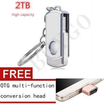 Harga Hot Sell 2TB Pendrive The Metal Usb Flash Drive Pen Drive with Key Chain Usb Stick 2TB Usb 2.0 Memory Stick Pendrive U Disk