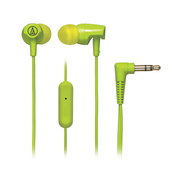 Harga Audio-Technica ATH-CLR100is SonicFuel® In-ear Headphones with In-line Mic & Control (Light Green)