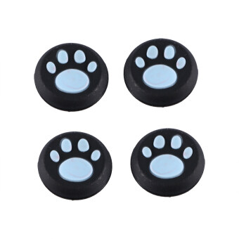 Harga 4Pcs Luxurious Paw Silicone Gamepad Thumb Stick Joystick Caps Cover For PS3 PS4 XBOX Blue