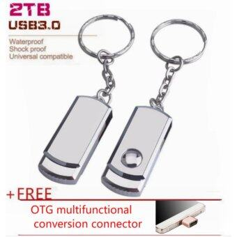 Harga 2TB Pendrive The Metal Usb Flash Drive Pen Drive with Key Chain Usb Stick 2TB Usb 3.0 Memory Stick Pendrive U Disk+Free OTG multi-function conversion head