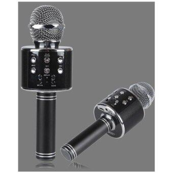Harga WS858 WSTER Home KTV Wireless Microphone with Mic Speaker Condenser Mini Karaoke Player with 3.5mm Jack for IOS/Android (FM Radio/MMC/USB/Bluetooth) Fast Delivery!!
