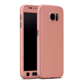 Harga 360 Degree Full Body Protection Cover Case With Tempered Glass for Samsung Galaxy Note 5 (Rose Gold)
