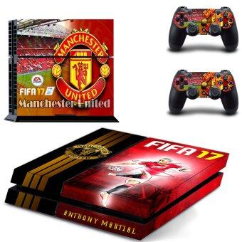 Harga New Design Manchester United Team Vinyl Decal Skin Stickers for Sony PlayStation 4 PS4 Console and 2PCS Controllers(GYTM0607).