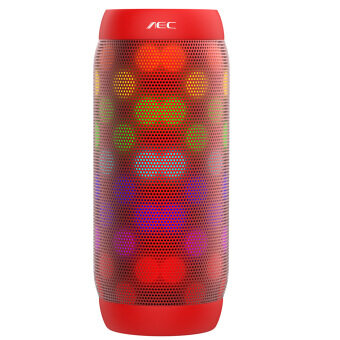 Harga NEC BQ-615 PRO Wireless Bluetooth HIFI Stereo Speaker Support NFC(Red)