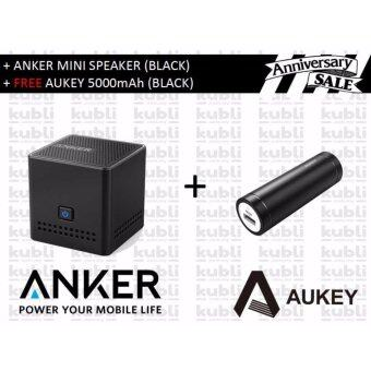 Harga ANKER MINI BLUETOOTH SPEAKER (BLACK) + FREE AUKEY PB-N37 5000mAh