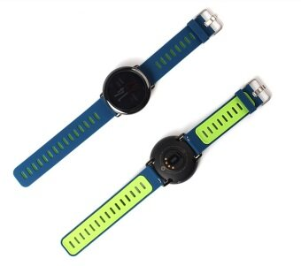 Harga Watch Band Strap for Xiaomi Huami Amazfit Sports Smart Watch Replacement Silicone in Blue+Green