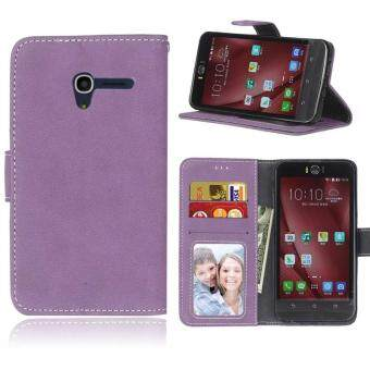 Harga Retro Frosted PU Leather Flip Case for Alcatel One Touch Pop 3 [5.0Inch] (Purple)