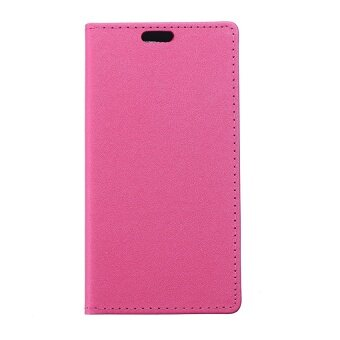 Harga Moonmini PU Leather Flip Stand Cover with Magnetic Closure for Alcatel One Touch Flash OT-6042D (Hot Pink)