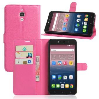 Harga PU Leather Wallet Case Cover For Alcatel One Touch Pixi 4 (6) 6.0 Inch 3G Version (Rose)