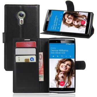 Harga PU Leather Wallet Case Cover For Alcatel One Touch Flash 2 (Black)