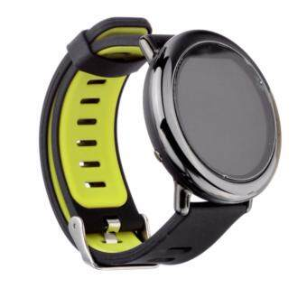 Harga 4Connect Xiaomi Huami AMAZFIT A1602 Sports Silicone Replacement Bracelet Strap Band - Black Green