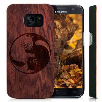 Harga Wooden Cover for Galaxy S6 SM-G9200 Case,YUANQIAN Non Slip Slim Hybrid Scratch Resistant Lightweight PC Slim Wood Case Cover For Samsung Galaxy S6 [G9200](Cat 1)