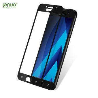 Harga LENUO CF Carbon Fiber Full Size Tempered Glass Screen Protector for Samsung Galaxy A5 (2017) A520 - Black