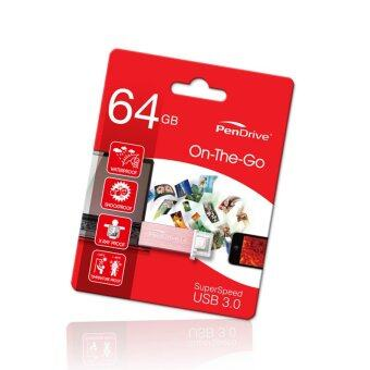 "Harga PenDrive OTG ""On-The-Go"" 64GB USB3.0 Flash Drive For PC, SmartPhone & Tablet"