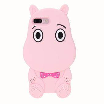 Harga Whyus-High Quality 3D Fuunny Logy Cartoon Hippo Soft Silicone Shell Case Cover Skin for iPhone 7 Plus Pink