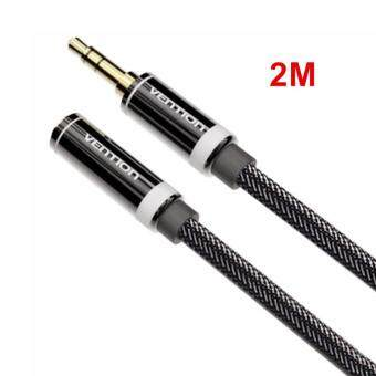 Harga Vention 2M 3.5mm Audio Extension Cable Stereo Male to Female Aux Phone Cable Headphone Adapter for iPhone MP3 CD Player Radio