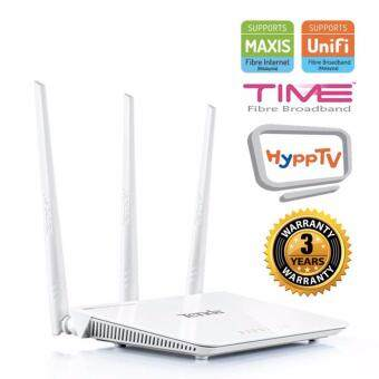 Harga TENDA F3 300Mbps 3x5dBi Wireless WiFi 3in1 Router for UniFi / Maxis Fiber