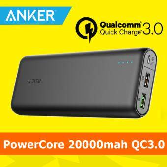 Harga [Qualcomm Certifed] Anker PowerCore 20000mah powerbank power bank with Quick Charge 3.0