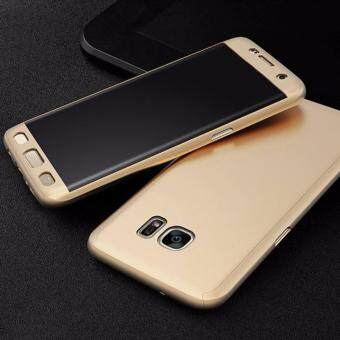 Harga 360 Degree Full Body Protection Cover Case With Tempered Glass for Samsung Galaxy J7 Prime (Gold)