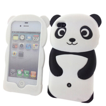Harga Bluelans 3D Panda Silicone Back Soft Case Protect Cover Skin For iPhone 6/6S 4.7