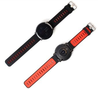 Harga Watch Band Strap for Xiaomi Huami Amazfit Sports Smart Watch Replacement Silicone in Black+Red