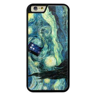 Harga Phone case for Apple iPhone 5c Doctor Who Van Gogh Starry Night TARDIS art print cover for iphone5c