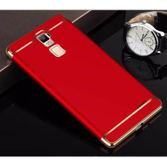 Harga Hybrid 3 In 1 Hard PC Frosted Matte Back Cover Case With Electroplated Frame For OPPO R7 Plus(Red)