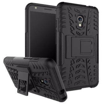 Harga Hard Plastic + TPU Hybrid Armor Bracket Impact Holster Cover Case For Alcatel One Touch Pixi 4 5.0 5045D (Black)