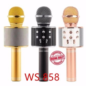 Harga Genius High Quality Ws858 Bluetooth Handheled KTV Karaoke Microphone Q9 Q7 JY-50