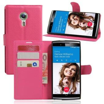 Harga PU Leather Wallet Case Cover For Alcatel One Touch Flash 2 (Rose)