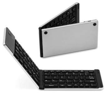 Harga F66 Universal Foldable Mini Wireless Rechargable Keyboard for iOS / Android / Windows iPad iPhone Smartphone PC