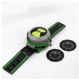 Harga Hot Selling Ben 10 Style Japan Projector Watch BAN DAI Genuine Toys for Kids Children Slide Show Watchband Drop