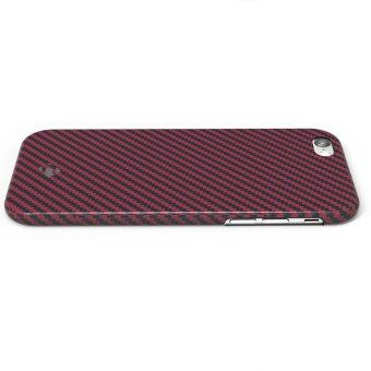 Harga Real Carbon Fiber Protective Case Cover for iPhone 6 Red