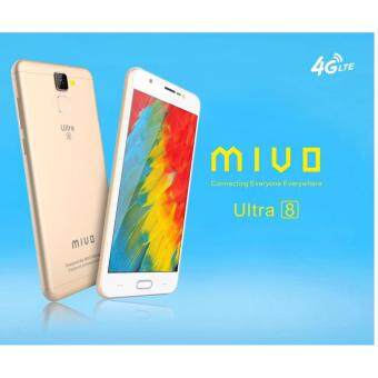 Harga (Official Warranty) Mivo Ultra 8 16GB+3GB 13MP /5MP LTE-4G Android 6.0 Marshmallow Fingerprint Smartphone