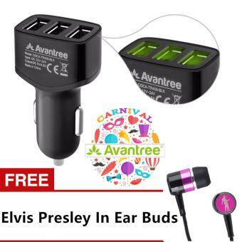 Harga AVANTREE 4.8A TR408 Fast Charging USB Car Mobile Charger for Smartphone/Tablet FREE ELVIS