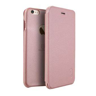 Harga iPhone 6 Plus / 6S Plus Case, Lenuo Lemeng Ultra Thin Crash Proof Slim Fit Flip Up Inside Card Slot PU Leather Cover Soft PC Protective Shell Integrated Back Case for Apple iPhone 6 Plus / 6S Plus 5.5 inch - Rose Gold