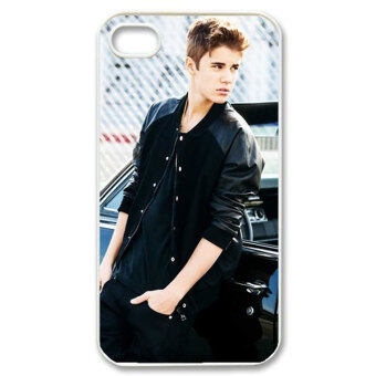 Harga Leegoal Handsome Justin Bieber Hands In Pockets Figure Carving Hard Case Cover for Apple iPhone 4 4s