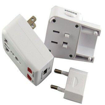 Harga 3 in 1 International Adapter With Usb Port