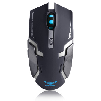 Harga Geyes i8 2.4GHz Rechargeable Wireless Mouse silence Computer Laptop Wireless Mice-BLACK