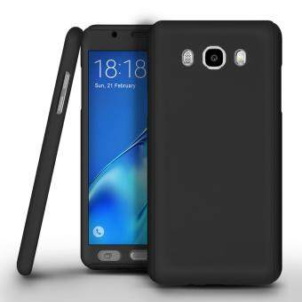 Harga 360 Degree Full Body Protection Cover Case With Tempered Glass for Samsung Galaxy J2 Prime (Black)