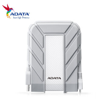 Harga ADATA HD710A 1TB Water/Dust/Shockproof IP68 Ruggedized Exclusive For Mac USB 3.0 External Hard Disk Drive Portable HDD(White) - AHD710A-1TU3-CWH