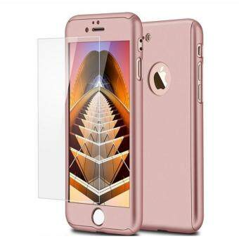 Harga 360 Full Body Coverage Protection Hard Slim Ultra-thin Hybrid Case Cover & Skin with Tempered Glass Screen Protector for Apple iPhone 7 (Rose Gold)
