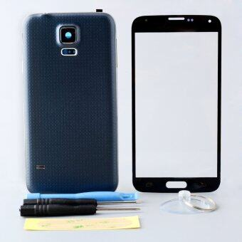 Harga OEM Housing Case Screen Glass Assembly parts For Galaxy S5 I9600 tools(Black)