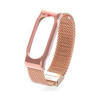 Harga Original Mijobs Metal Strap Band For MiBand 2 Wristbands Stainless Steel Bracelet For Xiaomi Mi Band 2 Replace For Mi Band 2 – Gold