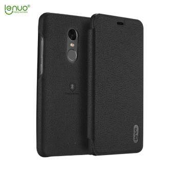 Harga Xiaomi Redmi Note 4X Case, Lenuo Lemeng Ultra Thin Crash Proof Slim Fit Flip Up Inside Card Slot PU Leather Cover Soft PC Protective Shell Integrated Back Case for Xiaomi Redmi Note 4X - Black
