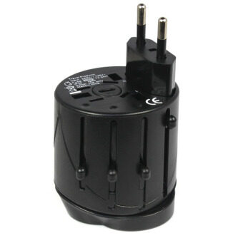 Harga Universal International Travel AC Adapter for Power Plug (Black)
