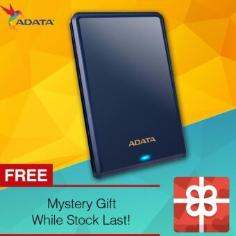 Harga ADATA HV620S 1TB USB 3.0 Slim/Scratch-Prevention/LED Indicator Sleek and Glossy Portable External Hard Disk Drive Portable HDD (Blue)