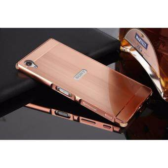 Harga Shockproof Aluminum Frame and PC Back Panel Cover Case for Sony Xperia XA Ultra(Rose Gold)
