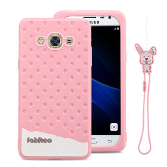 Harga Fabitoo Cute ice cream silicone back cover case For Samsung Galxay J3 Pro With lanyard -Pink Color